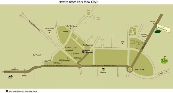 Bestech Park View City 1 Location Plan