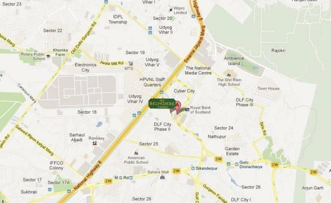 DLF Belvedere Tower Location Plan