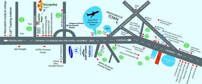 ABI Thiyagaraj Nagar Location Plan