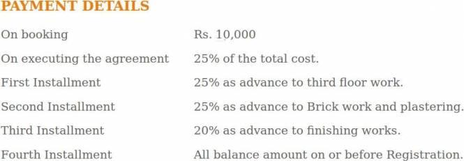 Sreepathi Kailasam Payment Plan