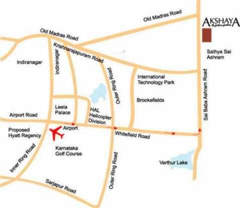 Red Akshaya The Fortune Gardens Location Plan
