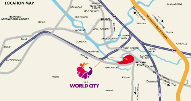 Paradise Sai World City Location Plan