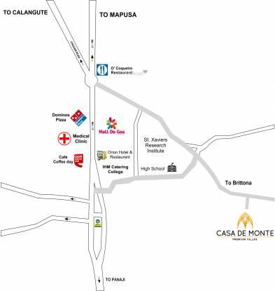 Chowgule Casa De Monte Location Plan