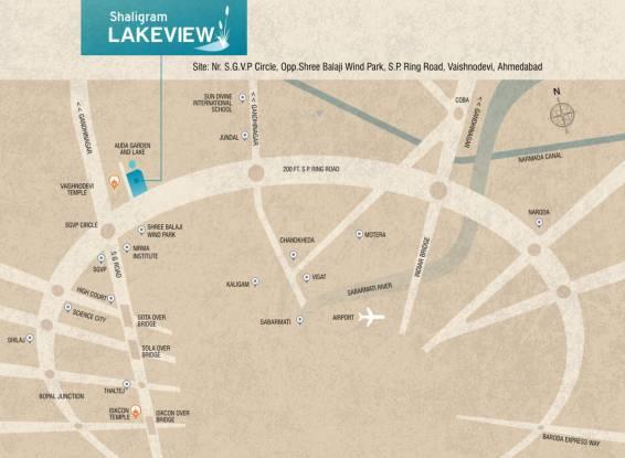 Sangani Shaligram Lakeview Location Plan