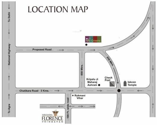 Shri Radha Florence Location Plan