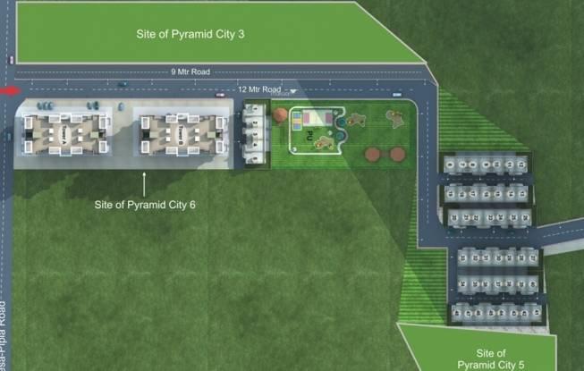 Pyramid Pyramid City 6 Row Houses Site Plan