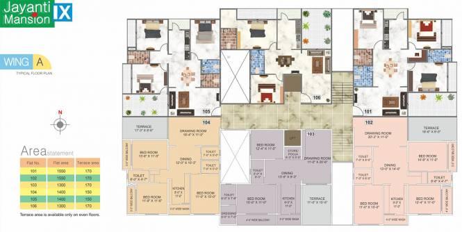 Abhijit Jayanti Mansion 9 Cluster Plan