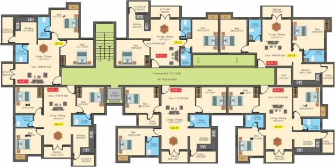 Saffron Bougain Apartment Cluster Plan