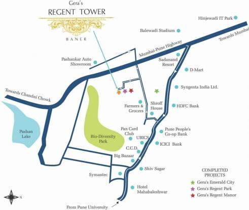 Geras Regent Tower Location Plan