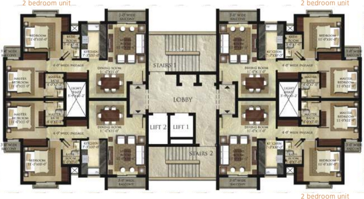 1450 Sq Ft 3 BHK 3T East Facing Apartment For Sale At Rs 50.00 Lacs In Garden  Bay Apartment 9th Floor In Mubarakpur, Lucknow
