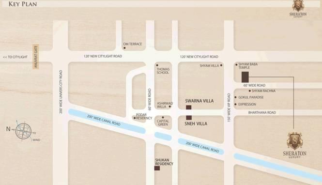 Raghuvir Sheraton Luxury Location Plan