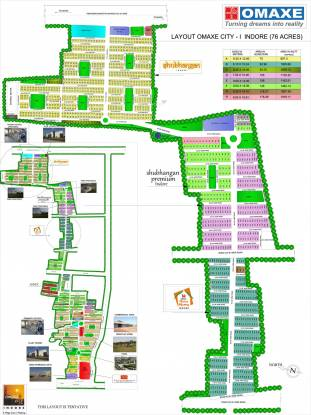 Omaxe City Villas Layout Plan
