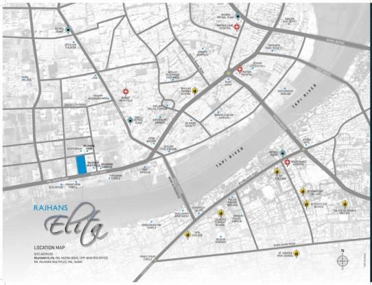 Rajhans Elita Location Plan