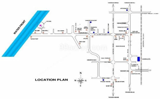Ahuja Oceanic Location Plan