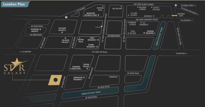 Raghuvir Star Galaxy Location Plan