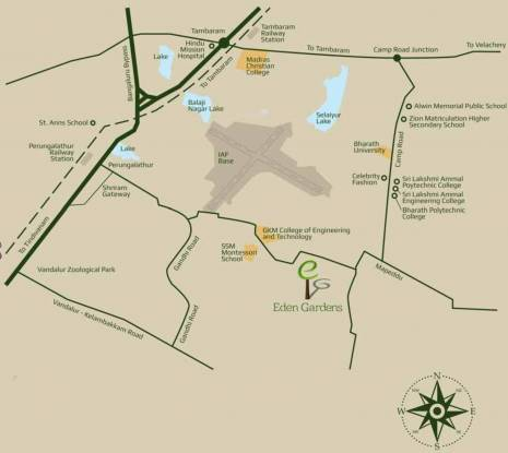 Evocon Eden Gardens Location Plan