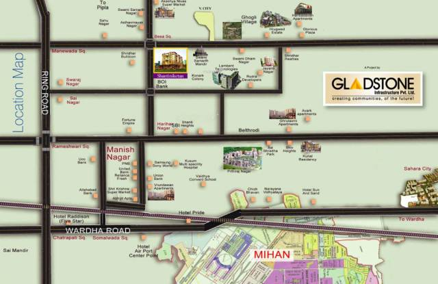 Gladstone Shantiniketan Villa Location Plan