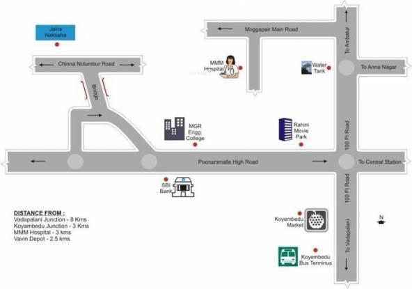 Jain Nakshatra Location Plan