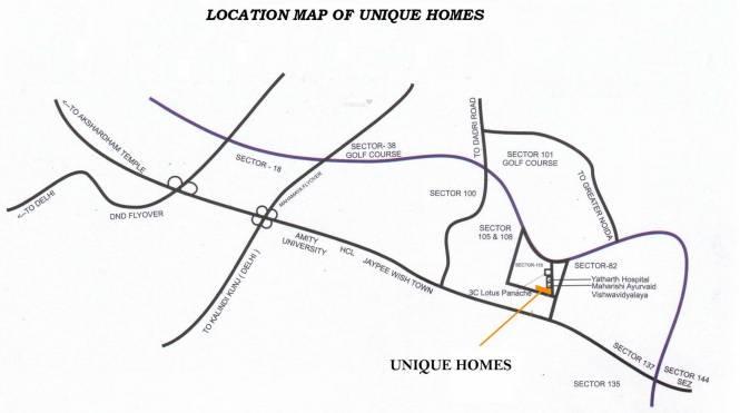 Unique Real Homes Location Plan