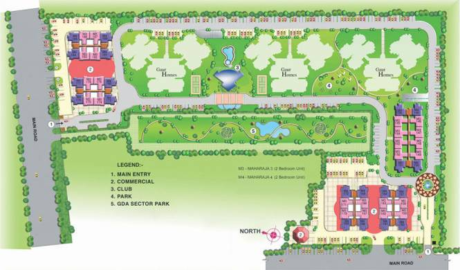 Gaursons Homes Elegante Layout Plan