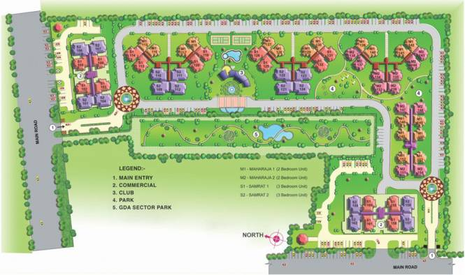 Gaursons Gaur Homes Layout Plan