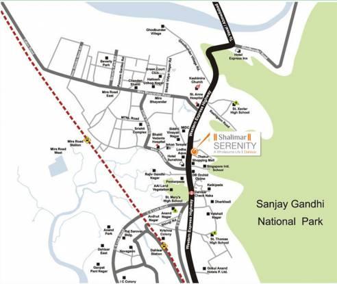 Mirchandani Shalimar Serenity Location Plan