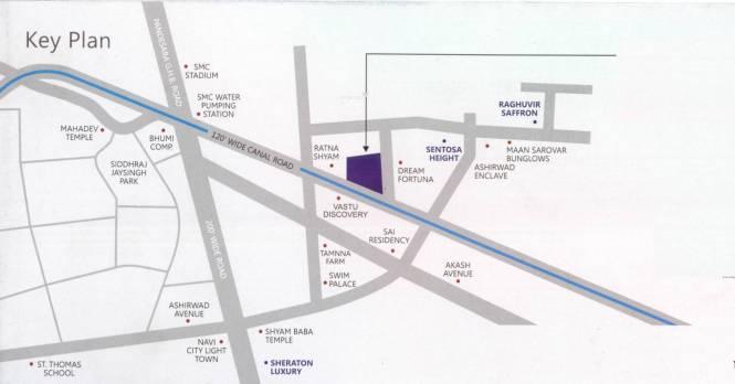 Raghuvir Symphony Location Plan