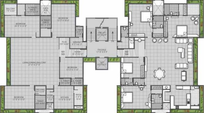 Raghuvir Shyam Luxury Cluster Plan