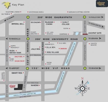 Raghuvir Shrungar Residency Location Plan