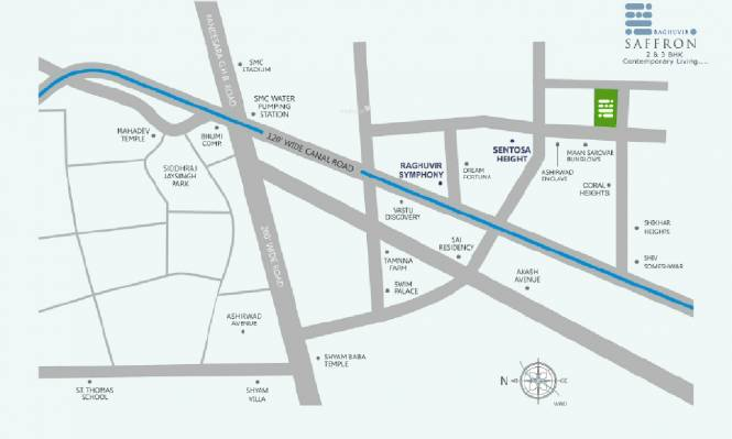 Raghuvir Saffron Location Plan