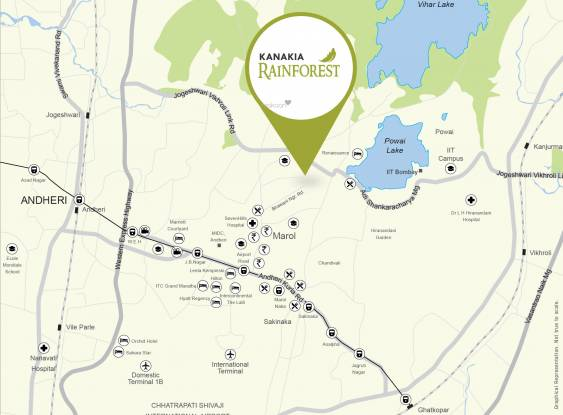 Kanakia Rainforest Location Plan