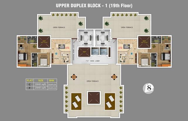 Rajwada Royal Gardens Cluster Plan