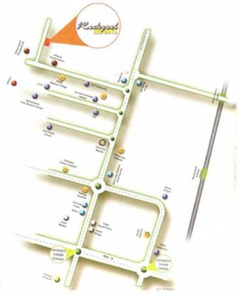 CJ Infra Developers Pvt Ltd Rockpool Heights Location Plan
