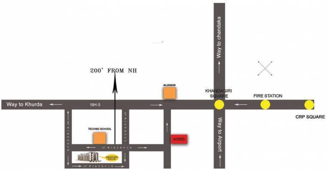 Surya Varati Estcon Pvt Ltd Sukanti Devi Enclave Location Plan
