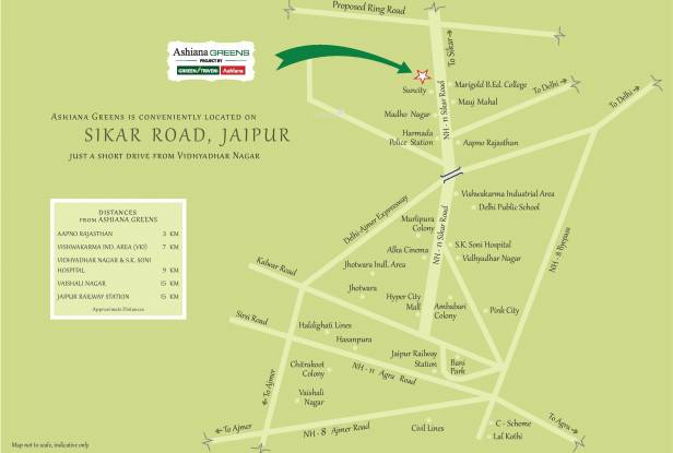 Ashiana Greens Location Plan