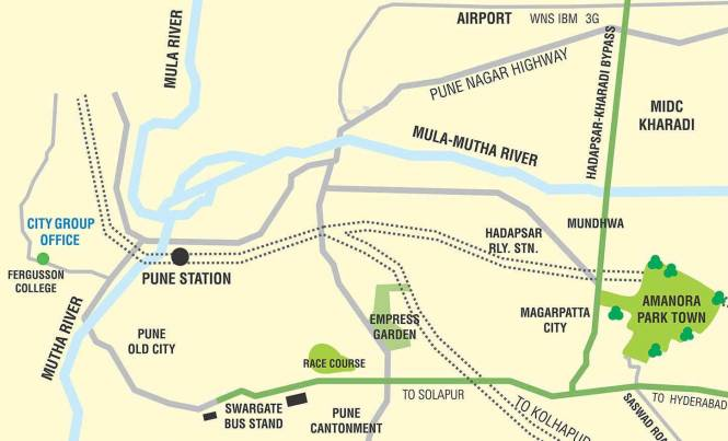 Amanora Future Towers Location Plan