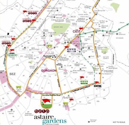 BPTP Astaire Garden Plots Location Plan