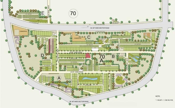 BPTP Astaire Garden Plots Master Plan