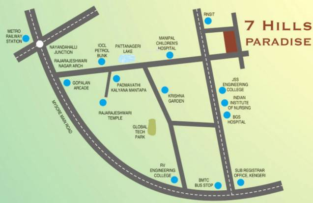 7 Hills Paradise Location Plan
