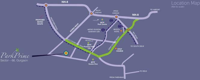 BPTP Park Prime Location Plan