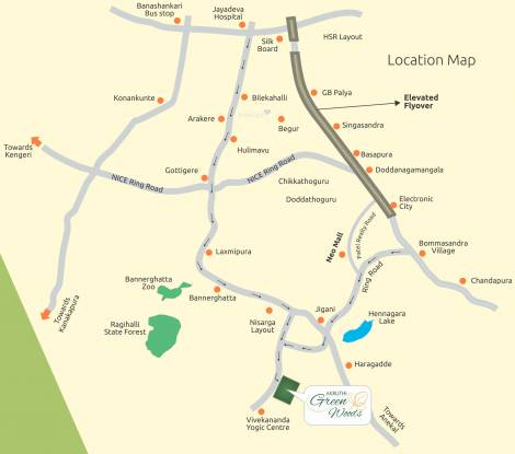 BSR Akruthi Green Woods Location Plan