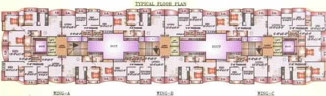 Leena Bhairav Residency Cluster Plan