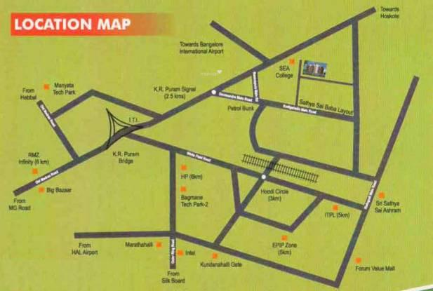 Ankshu Platina Location Plan