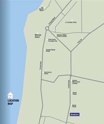 Kamat Construction Pvt Ltd Galaxy Location Plan