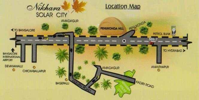 Nikhara Solar City Location Plan
