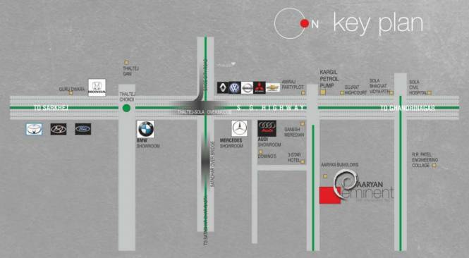 Aaryan Eminent Location Plan