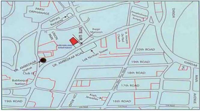 JP Dreamland Apartments Location Plan