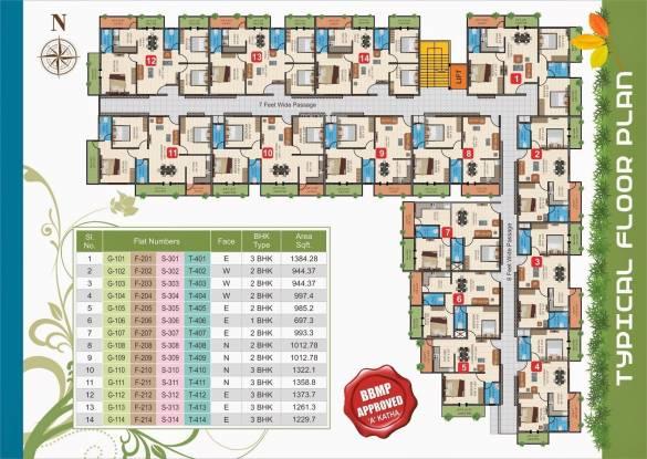 Evershine Vrindavan Cluster Plan