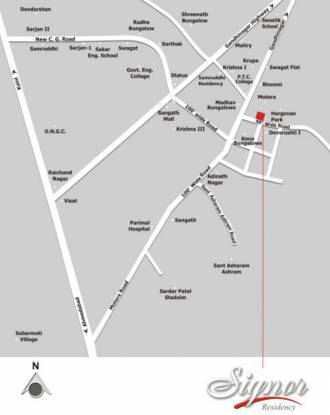 Sangani Signer Residency Location Plan