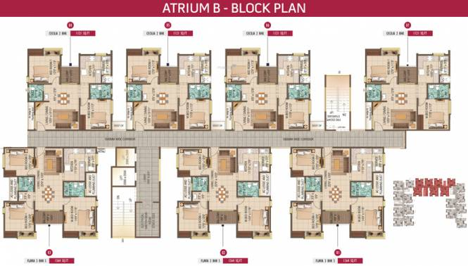 Alliance Galleria Residences Cluster Plan